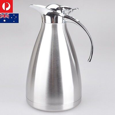 2.0L Stainless Steel Insulated Coffee/Tea/Water Jug Thermal Pot Flask