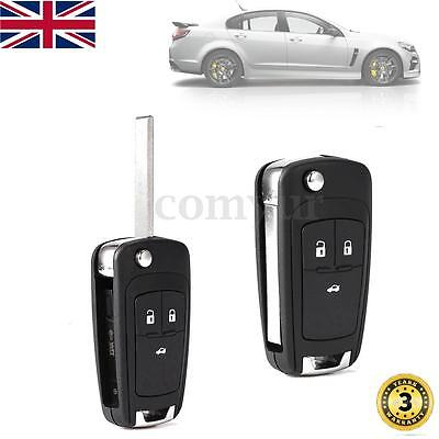 3 Button Fob Remote Key Case For Vauxhall Opel Zafira Astra Insignia Holden -Uk