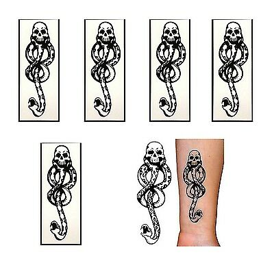 5 Pcs Snake Cosplay Tattoo Sticker Party Acces For Death Eater Harry Potter