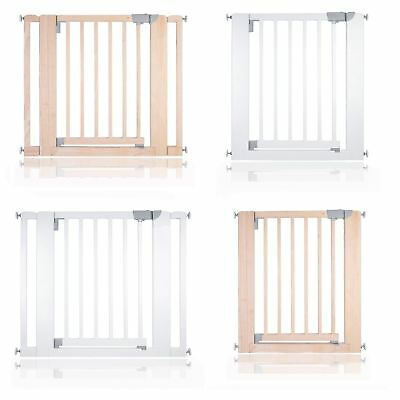 Safetots Chunky Wooden Pressure Fit Stair Gate 74 -97cm Safety Barrier White