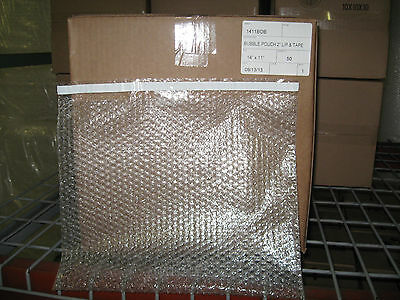 """50 - 14"""" X 11"""" Clear Bubble Pouch Self-Seal Mailers - Ships Free!"""
