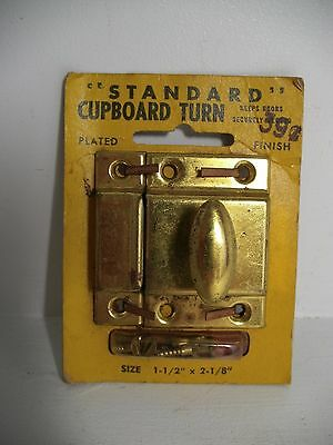 Vintage STANDARD BRASS CUPBOARD TURN ~ new old stock