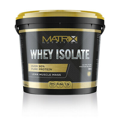 Whey Isolate- High Protein Content- Low Carbs- All Flavours & Sizes By Matrix