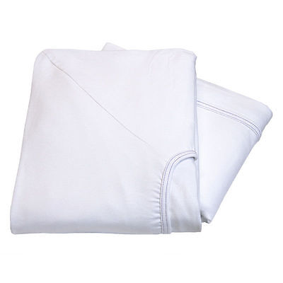 6 NEW PREMIUM WHITE CONTOUR TWIN KNITTED FITTED SHEET HOSPITAL BED 36x84x16 30OZ