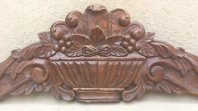 "40"" Ornate Vintage Carved Architectural Floral Eastlake Wall hanging"