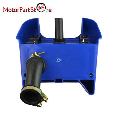 For Yamaha PW80 Airbox Air Filter Assembly Casing BLUE PY80 1988-2006