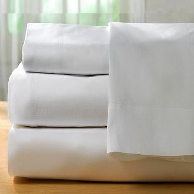 1 piece new white sheet 300 thread count cotton blend made in usa! all sizes!!