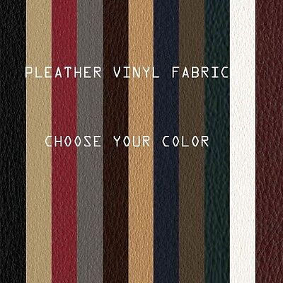 """Vinyl Fabric Faux Leather Fabric Pleather Upholstery Fabric - 17 Colors - 54""""W"""