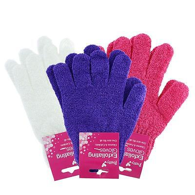 Pretty 1 Pair of Exfoliating Bath Gloves - One Size Mitt Exfoliator Pads