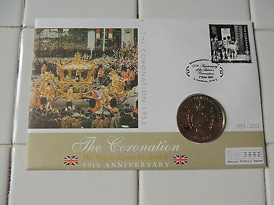 2003 Coronation Jubilee  Ghana 100 Sika Coin First Day Cover