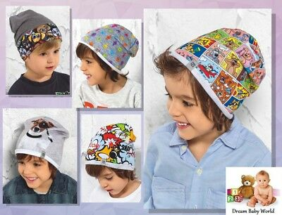 Kids Toddler Boys hat spring autumn size 9 months - 5 Years Beanie Stretchy Cap