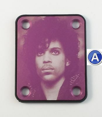 Prince tribute guitar neck plate - Purple - your choice of design