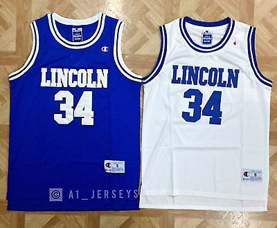 Jesus Shuttlesworth Lincoln Basketball Jersey Ray Allen #34 He Got Game S M L XL