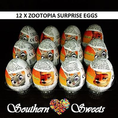 12 Disneys Zootopia Milk Chocolate Collection Eggs With Toy Inside