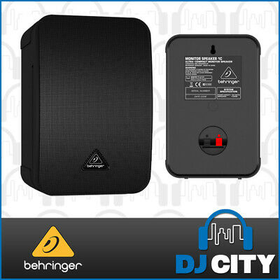 "Behringer 1C-BK Passive 100W 5"" Studio Monitor Speakers Pair Black *New*"