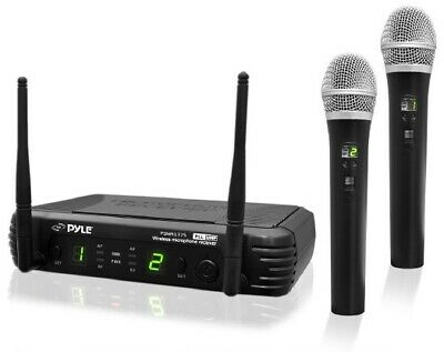 PYLE - PDWM3375 Premier Series Professional 2-Channel UHF Wireless Handheld Micr