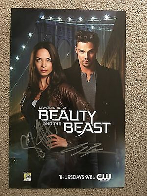 CW TV BEAUTY AND THE BEAST SIGNED Original POSTER BN Comic Con 2012 Kreuk Ryan