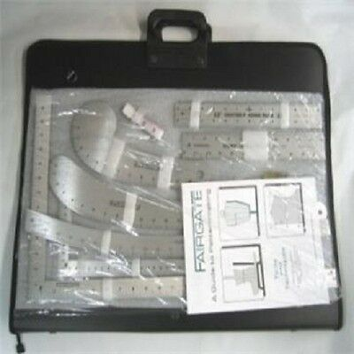 Fairgate 15-100 Fashion Designer's Inch Carryall Ruler Kit With Case