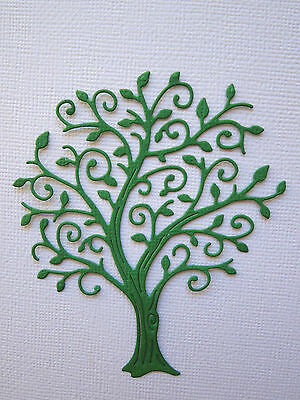 Tree Paper Die Cuts x 6 Scrapbooking Card Topper Embellishment - NOT a DIE