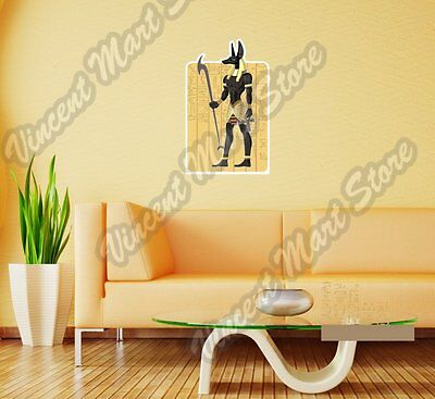 "Anubis God Canine Wolf Egyptian Wall Sticker Room Interior Decor 20""X25"""