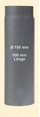 Flue pipe Piece of Chimney connection Ø 150 x 500 mm length grey cast iron Stove
