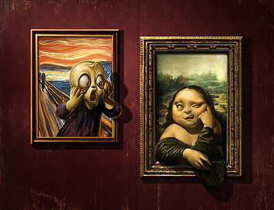 Home art wall decor Mona Lisa and scream Oil painting Picture Printed on canvas