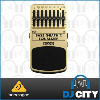 Behringer BEQ700 Bass Graphic EQ Pedal Compact 7-Band EQ for Bass Guitarists