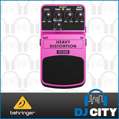 Behringer Guitar Effect FX Pedal Heavy Metal Distortion HD300
