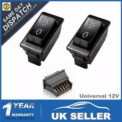 2x 5-Pin Universal 12V 20A Car Electric Window Switch Up Down Aerial Momentary