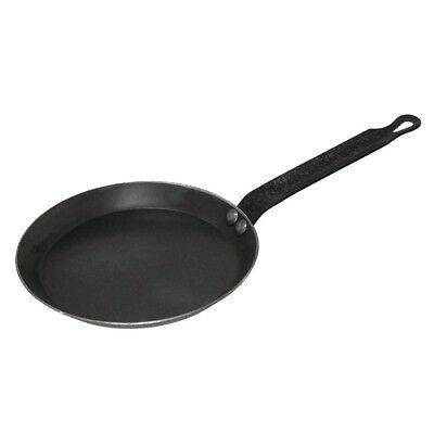 Vogue Black Iron Crepe Pan Frying Cooking Cookware Kitchenware With Handle