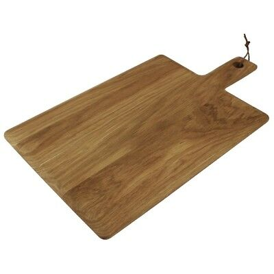 Olympia Oak Handled Wooden Board Large Chopping Cutting Presentation Kitchen