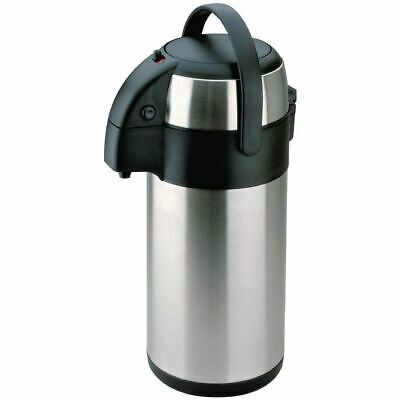 Olympia Pump Action Airpot 2.5Ltr Coffee Tea Hot Cold Water Thermos Flask