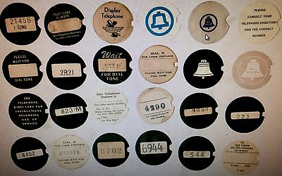 Western Electric telephone dial centers NEW card stock dial cards number cards 7