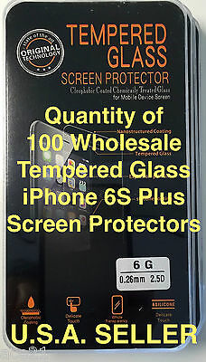 100X Lot iPhone 6 6S High Quality Tempered Glass Screen Protectors 0.26mm 2.5D