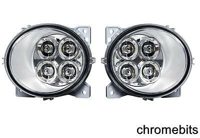 2 X 4 Led Drl Lights For Scania Series P/g/r/t 2004+ Left & Ride Side E4 Fog
