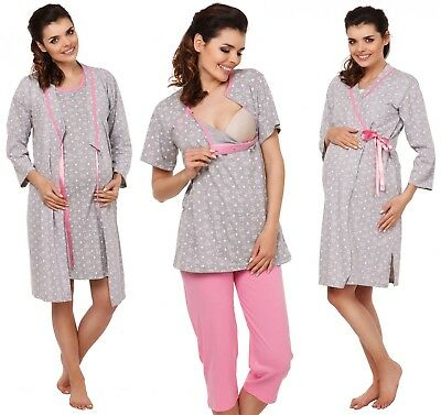 Zeta Ville Women's Maternity Nursing Robe/Pyjamas/Nightdress MIX & MATCH - 980c