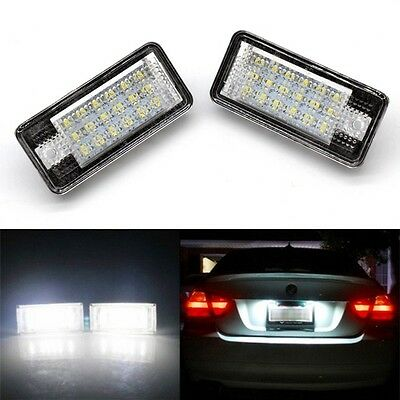 2x Car LED Rear License Light Number Plate Lamp For Audi A3 A6 A4 A8 Q7 RS4