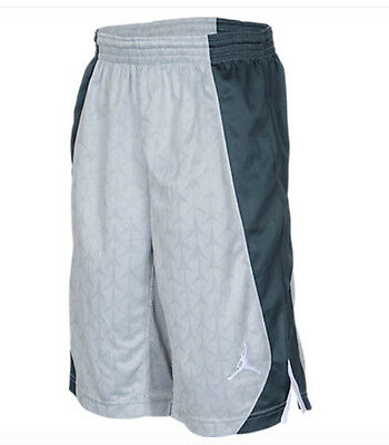 Jordan S Flight Basketball Shorts Grey White DriFit $40 952501-174 Boys S M L XL