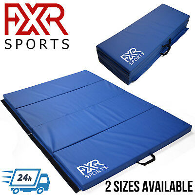 Fxr Sports 6Ft/8Ft Folding Crash Gymnastic Exercise Fitness Mats Gym Mat Physio