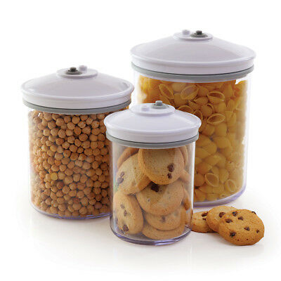 FoodSaver 3 Piece Round Canister Set T02-0052-01P