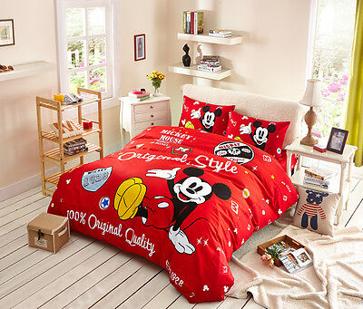 Disney Licensed Mickey Mouse 7Pcs Twin Full Queen Size Comforter In A Bag Mk768