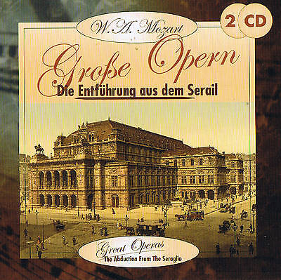 "W.A.Mozart "" Die Entführung from the Serail "" 2 CD Box New & Original Packaging"