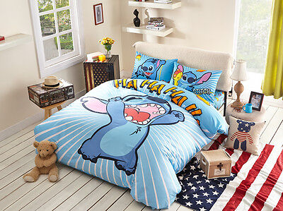 Disney Licensed Stitch 7Pcs Twin Full Queen Size Comforter In A Bag St561