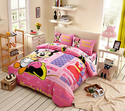 Disney Licensed Minnie Mouse 7Pcs Twin Full Queen Size Comforter In A Bag Mn4073