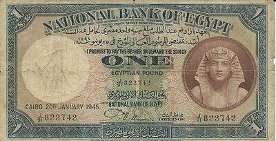 One Egyptian Pound Printed 1898