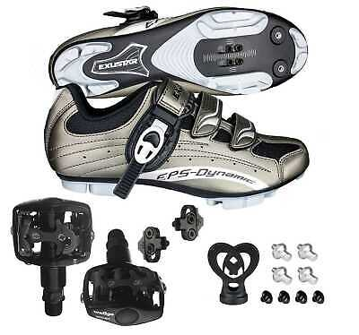 EXUSTAR E-SM306 Shimano SPD Mountain Bike Bicycle shoes WPD-823 Pedals & Cleats