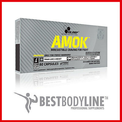 Olimp Amok Mega Caps Pre-workout Energy Booster Extreme Anabolic - 30-60 Caps