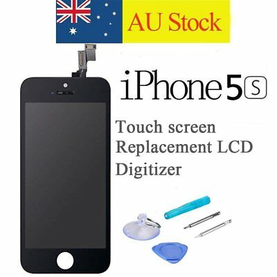For iPhone 5S Replacement LCD Digitizer Front Screen Display Assembly Black