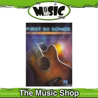 New First 50 Songs You Should Play on Acoustic Guitar Music Book