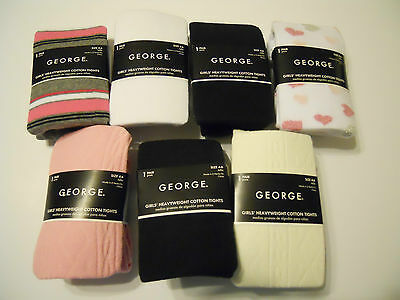 George Heavyweight Cotton Tights Footed Girls